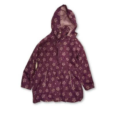 134-140-es lila pöttyös átmeneti kabát - TCM