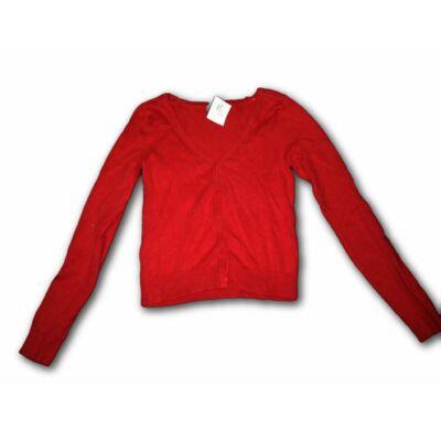 134-140-es piros vékony kötött kardigán lánynak - H&M
