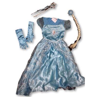 128-as kék 4 részes jelmez - Frozen, Jégvarázs