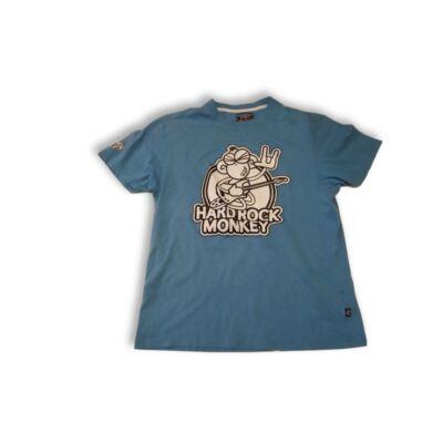 Férfi M-es kék majmos póló - Terranova
