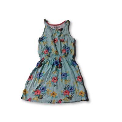 110-116-os türkiz virágos nyári ruha - H&M