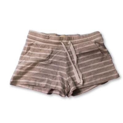 140-es szürke-fehér csíkos lány pamut short - H&M