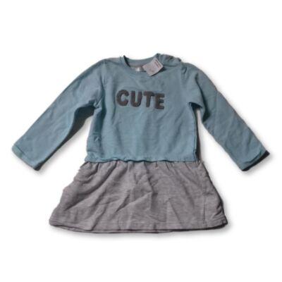 98-as kék-szürke pamut ruha - Pepco