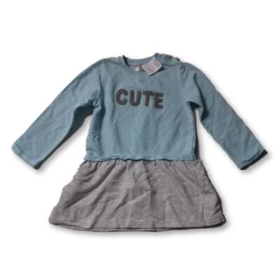 92-es kék-szürke pamut ruha - Pepco