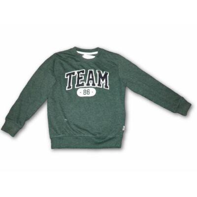 116-122-es zöld feliratos pulóver - Terranova