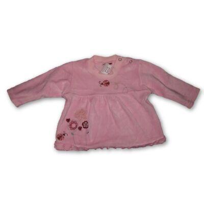 68-as rózsaszín plüss pulóver