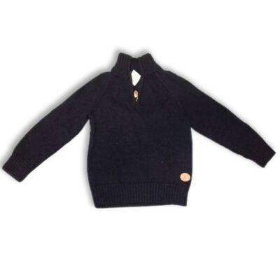 110-es sötétkék kötött pulóver - H&M