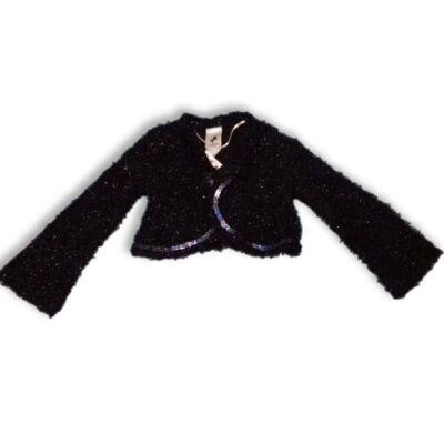92-es fekete szőrmés flitteres boleró - C&A