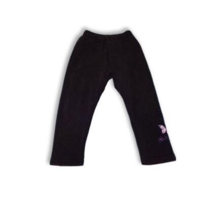 92-es fekete lepkés bélelt nadrág, tréningalsó jellegű