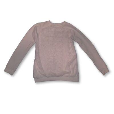 152-es fehér elől szőrmés pulóver
