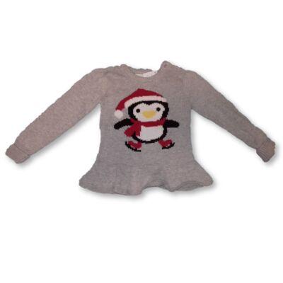 80-as szürke pingvines kötött pulóver - Young Dimension