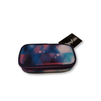 Kék-rózsaszín mintás tolltartó - Oxybag - ÚJ