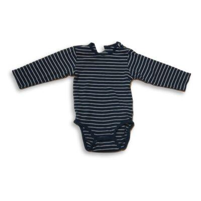 92-es kék-fehér csíkos hosszúujjú body - H&M