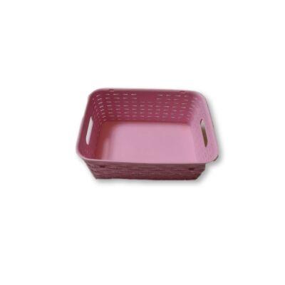 Rózsaszín műanyag kosárka