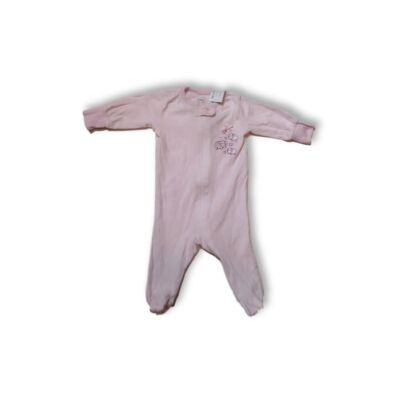 62-es rózsaszín csíkos báránykás pamut rugi - Wonder Nation