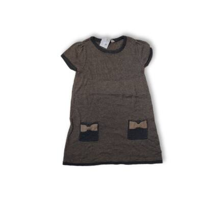 98-104-es barna-szürke kötött ruha - H&M