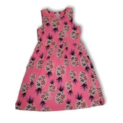 134-140-es rózsaszín ananászos pamut ruha - George