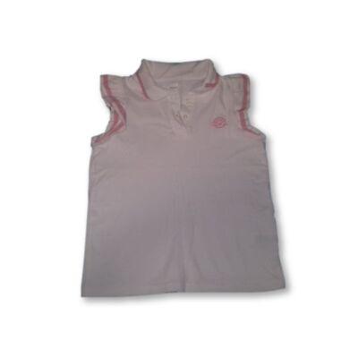 134-es fehér-rózsaszín piké póló - Next