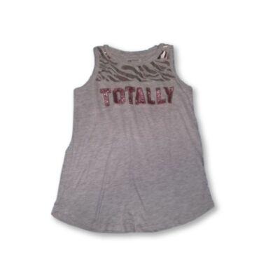 134-140-es szürke-ezüst flitteres ujjatlan póló - H&M