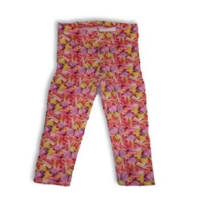 134-140-es macaron-mintás leggings