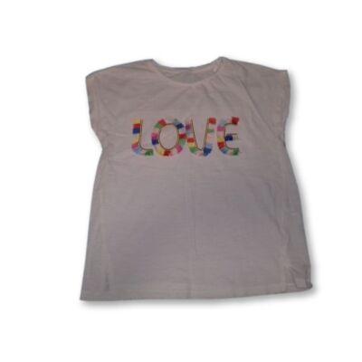 146-os LOVE feliratú fehér póló