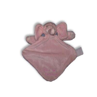 Plüss elefántos rózsaszín rongyi