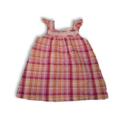 86-os rózsaszín-narancssárga kockás ruha - Cherokee