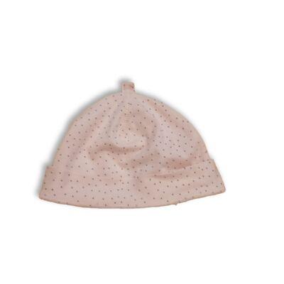Rózsaszín-fekete pöttyös pamut bébisapka - H&M