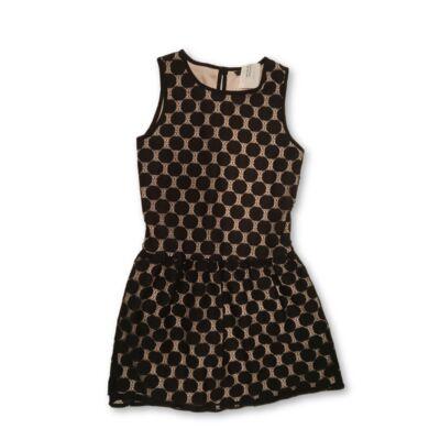 134-140-es fekete csipkés alkalmi ruha - George