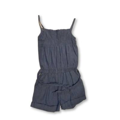 128-134-es kék farmerhatású playsuit - George