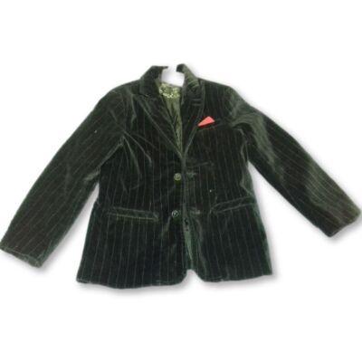 116-os fekete bársony zakó - H&M