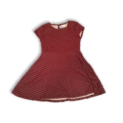 152-es bordó mintás kötött hatású ruha - Zara