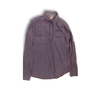 Férfi XL-es lila hosszú ujjú ing