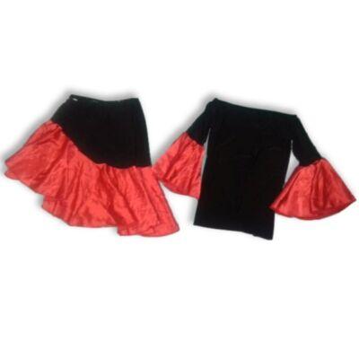 8-10 évesre piros-fekete kétrészes jelmezruha