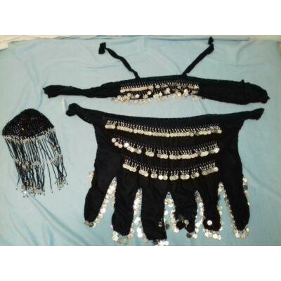 Fekete hastáncos ruha, 3 részes