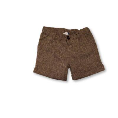 98-104-es barna csillogó szövetshort - TU