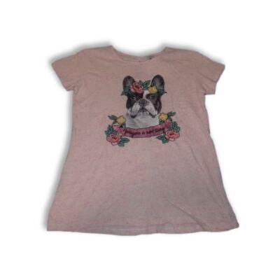 158-164-es rózsaszín kutyás póló - C&A