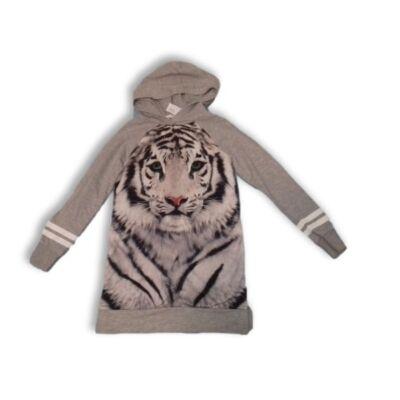 134-140-es szürke tigrises tunika - H&M