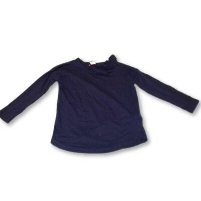 110-es sötétkék fodros  tunika jellegű pamutfelő - Zara