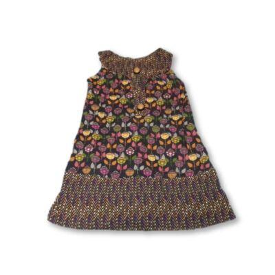 116-os szürke virágos ujjatlan ruha - Zara