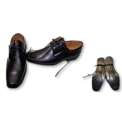 43-as fekete alkalmi férfi cipő - ÚJ