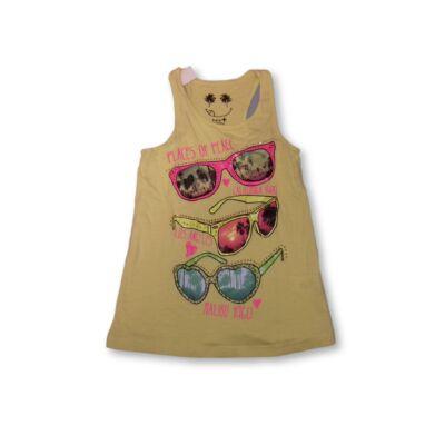 134-140-es sárga ujjatlan napszemüveges póló - C&A