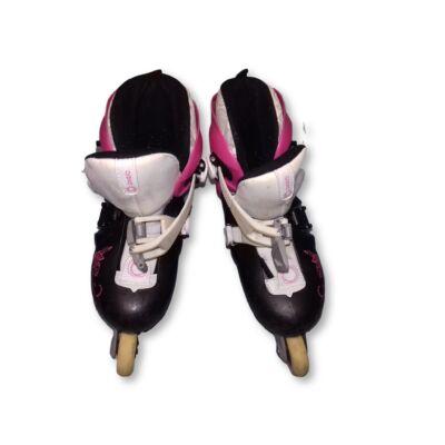 32-es pink-fekete görkorcsolya - Oxelo