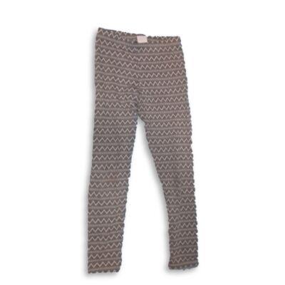 152-es szürke-fehér mintás leggings- F&F