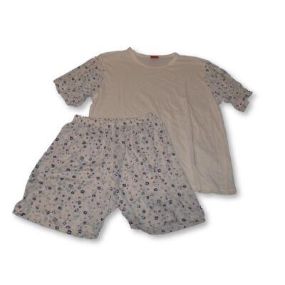 158-164-es fehér-kék lány nyári pizsama - Kikelet