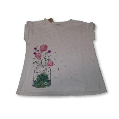 164-es fehér virágos póló - Zara