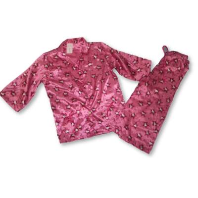 122-128-as rózsaszín szatén pizsama - Hello Kitty