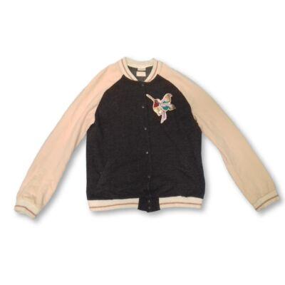 164-es szürke-rózsaszín flitteres kolibris kardigán - Zara