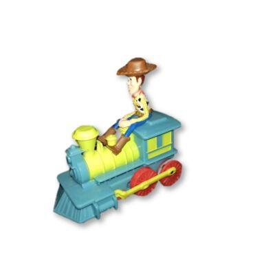 Műanyag Woody Sheriff vonattal - Toy Story