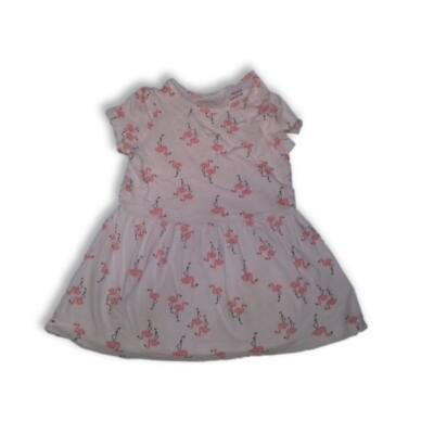 74-80-as fehér flamingós ruha - Lupilu